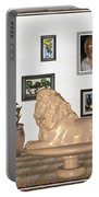 Digital Exhibition _  Sculpture Of A Lion Portable Battery Charger
