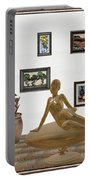 digital exhibition _ Statue of girl 49 Portable Battery Charger