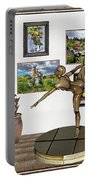 digital exhibition _ Statue of girl acrobat 35 Portable Battery Charger