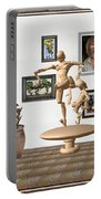 digital exhibition _ Statue of  Mother and child zombies Portable Battery Charger