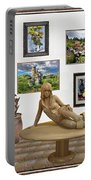 digital exhibition _Statue 1 of posing girl 221 Portable Battery Charger