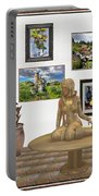 digital exhibition _Statue 2 of posing girl 221 Portable Battery Charger