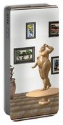 digital exhibition  Statue 23 of posing lady  Portable Battery Charger