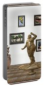 digital exhibition  Statue 25 of posing lady  Portable Battery Charger