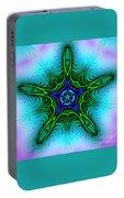 Digital Kaleidoscope Green Star 001 Portable Battery Charger