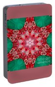 Digital Kaleidoscope Red-green-white 8 Portable Battery Charger