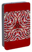 Digital Kaleidoscope Red-white 1 Portable Battery Charger