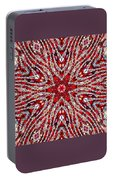 Digital Kaleidoscope Red-white 4 Portable Battery Charger