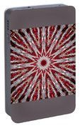 Digital Kaleidoscope Red-white 7 Portable Battery Charger