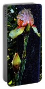 Digital Painting Pink And Yellow Iris 6758 Dp_2 Portable Battery Charger