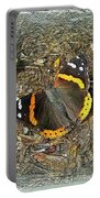 Digital Red Admiral Butterfly - Vanessa Atalanta Portable Battery Charger