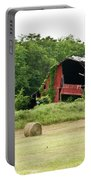 Dilapidated Old Red Barn Portable Battery Charger