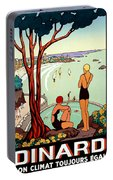 Dinard, French Riviera, Two Swimmers  Portable Battery Charger