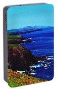 Dingle Coastline Near Fahan Ireland Portable Battery Charger