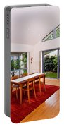 Dining Room With Slanted Ceiling Portable Battery Charger