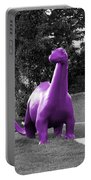 Dino Selective Coloring In Ultra Violet Purple Photography By Colleen Portable Battery Charger