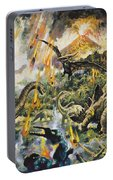 Dinosaurs And Volcanoes Portable Battery Charger