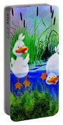 Dipping Duckies - Furry Forest Friends Mural Portable Battery Charger