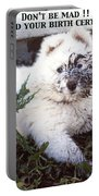Dirty Dog Birthday Card Portable Battery Charger