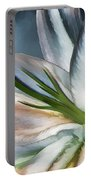 Dirty White Lily 2 Portable Battery Charger