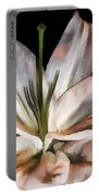 Dirty White Lily 3 Portable Battery Charger