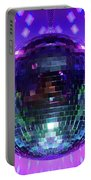 Disco Ball Purple Portable Battery Charger