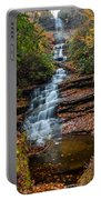 Dismal Falls In Autumn Portable Battery Charger