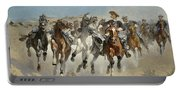 Dismounted The Fourth Troopers Moving The Led Horses Portable Battery Charger
