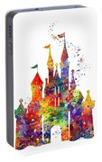 Disney Castle 6 Watercolor Print Portable Battery Charger