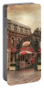 Disneyland Corner Cafe Pa Textured Portable Battery Charger