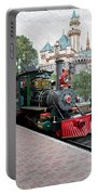 Disneyland Railroad Engine 3 With Castle Portable Battery Charger