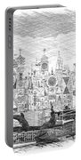 Disneyland Small World Panorama Pa Bw Portable Battery Charger