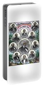 Distinguished Colored Men Portable Battery Charger by War Is Hell Store