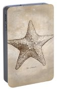 Distressed Antique Nautical Starfish Portable Battery Charger