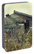 Distressed Honey House Door County Wisconsin Portable Battery Charger