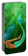 Diving Mermaid Fantasy Art Portable Battery Charger
