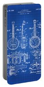 Dixie Banjolele Patent 1954 In Blue Print Portable Battery Charger