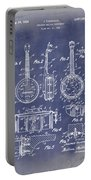 Dixie Banjolele Patent 1954 In Grunge Blue Portable Battery Charger