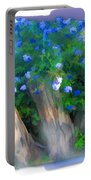 Do-00148 Bushy Blue Flowers Portable Battery Charger