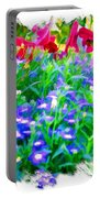 Do-00221 Flowers Portable Battery Charger