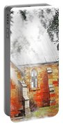 Do-00264 Ghostly Look Of St John Church Portable Battery Charger