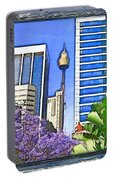 Do-00285 Sydney Centre Tower In Spring Portable Battery Charger