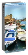 Do-00347 Boats In Byblos Port Portable Battery Charger
