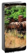 Do-00411 Old Train In Ryak Portable Battery Charger