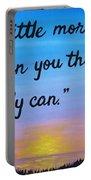 Do A Little More 18x24 Inspirational Art Portable Battery Charger