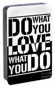 Do What You Love What You Do Portable Battery Charger