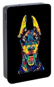 Doberman Dog Breed Head Pet Breed True Friend Color Designed Portable Battery Charger