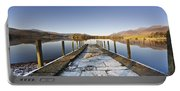 Dock In A Lake, Cumbria, England Portable Battery Charger
