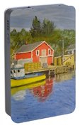 Docks Of Northwest Cove - Nova Scotia Portable Battery Charger
