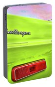Dodge Challenger In Sublime Green Portable Battery Charger